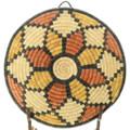 Native American Polychrome Tray Basket 35691