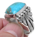 Authentic Navajo Sterling Silver Turquoise Ring 35700