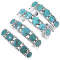Hammered Sterling Southwest Turquoise Bracelet 21062