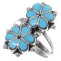 Zuni Turquoise Flower Ring 35752