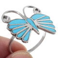 Sterling Silver Turquoise Inlay Ladies Ring 35753