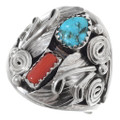 Native American Turquoise Silver Ring 35755