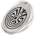 Man in the Maze Silver Mens Ring 35796