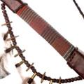 Beaded Navajo Smokeable Peace Pipe 35804