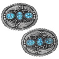 Authentic Native American Turquoise Belt Buckle 22609