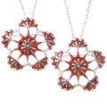 Native American Red Coral Pendants 35824