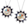 Native American Sunface Pendants Sterling Silver 35832