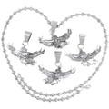 Eagle Kachina Spirit Sterling Silver Navajo Pendant 35834