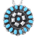 Sterling Silver Zuni Turquoise Pendant 35840