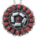 Red Coral Native American Pendant 35841
