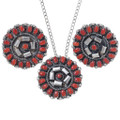Coral Zuni Jewelry Lorencita Walela Artist Signed Gallup NM 35841