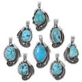 Sleeping Beauty Turquoise Pendants with Chain 35867