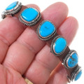 Sterling Silver Turquoise Leather Bracelet 35900