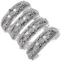 All Sterling Silver Western Navajo Bracelet 35906