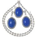 Denim Lapis Native American Pendant with Chain 35912