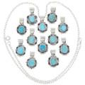 Kingman Turquoise Pendants Navajo Made 35914