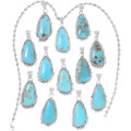 Turquoise Mountain Sterling Silver Pendants 35918