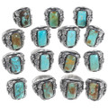 Turquoise Rings Native American Made Artist Signed 35929