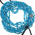 Bright Blue Turquoise Beads Arizona Nugget Texture 35574