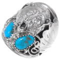 Turquoise Sterling Silver Bear Ring 35934
