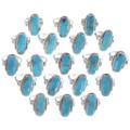 Kingman Turquoise Silver Ladies Ring 35962