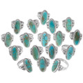 Southwest Style Turquoise Silver Navajo Ladies Rings 35965