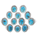 Sterling Silver Navajo Turquoise Rings 35967