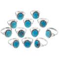 Ladies Turquoise Silver Navajo Ring 35970