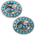 Natural Turquoise Native American Bear Claw Buckle 35998