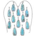 High Grade Turquoise Mountain Silver Pendants 35999
