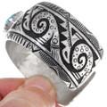Authentic Navajo Richard Singer Silver Overlay Cuff Bracelet 38015