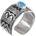 Kingman Turquoise Nugget Bracelet Navajo Artist Richard Singer Signed 38019