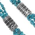 Sterling Silver Navajo Pattern Overlay Barrel Beads 38038