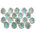 High Grade Turquoise Mountain Gemstone Navajo Rings 38042