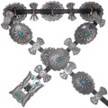 Old Pawn Turquoise Concho Belt 38044