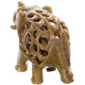 Baby Within Mother Elephant Stone Carving 38047