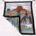 Reservation Scene Canyon de Chelly Navajo Rug 38062