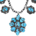 High Grade Persian Spiderweb Turquoise Jewelry Set 38012