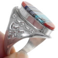 Sterling Silver Turquoise Spiny Oyster Inlay Ring 35872