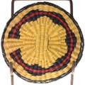 Vintage Native American Wedding Pattern Basket Tray 39126