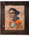 Vintage Navajo Man Framed Oil Painting 39151