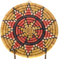 Vintage Hopi Polychrome Star Tray Basket Wall Plaque 39156