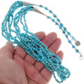 Beaded Natural Turquoise Necklace 39165