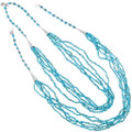 Native American Natural Turquoise Bead Necklace 39165