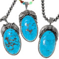 Large Blue Turquoise Sterling Silver Pendants 39168
