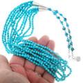 Navajo Kingman Turquoise Nugget Necklace 39183
