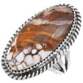 Ladies Wild Horse Silver Navajo Ring 39196