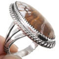 Sterling Silver Navajo Made Wild Horse Ring 39196