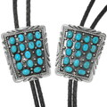 High Grade Turquoise Bolo Tie Navajo Pattern 39198