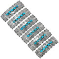 Native American Turquoise Silver Hair Barrette 39201